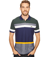 Lacoste - Short Sleeve Engineered Stripe Noppe Caviar Pique Regular