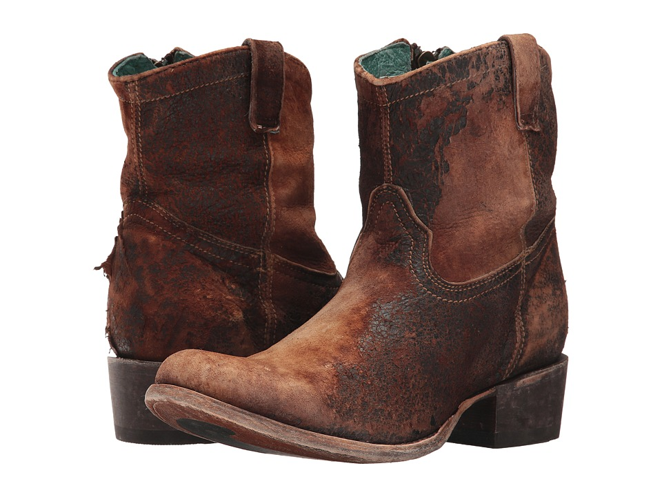 Corral Boots - C1064 (Chocolate/Tan) Cowboy Boots