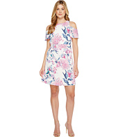 Ivanka Trump - Georgette Cold Shoulder with Tie Dress