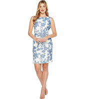 Ivanka Trump - Sleeveless Printed Floral Lace Sheath