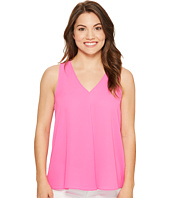 Vince Camuto Specialty Size - Petite Sleeveless V-Neck Drape Front Blouse
