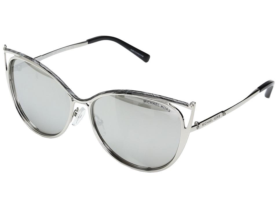 Michael Kors Ina MK1020 56mm (Gray Marble/Silver Tone/Sil...