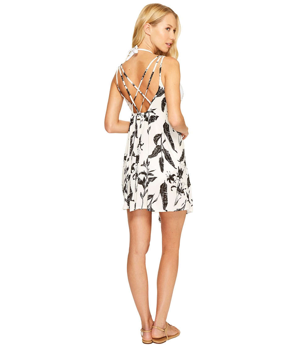 Roxy Windy Fly Away Print Dress Cover-Up (Marshmallow Love Letter) Women
