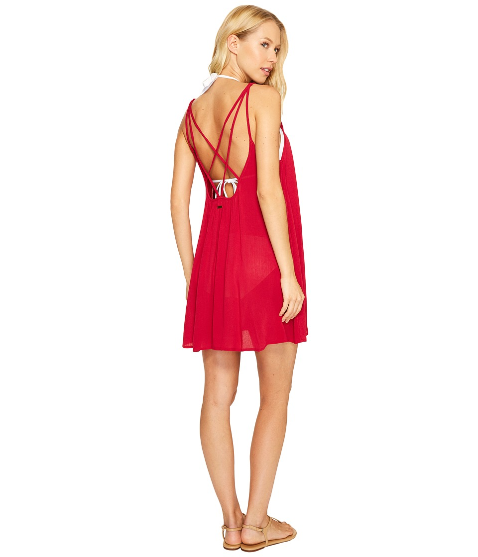 Roxy Windy Fly Away Dress Cover-Up (Persian Red) Women