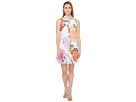 Calvin Klein - Floral Button Front Trapiz Dress