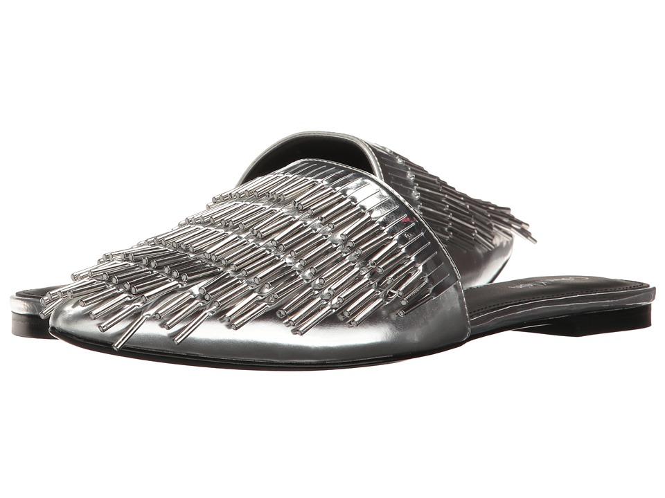 Calvin Klein Addie (Silver Metallic Box Leather) High Heels