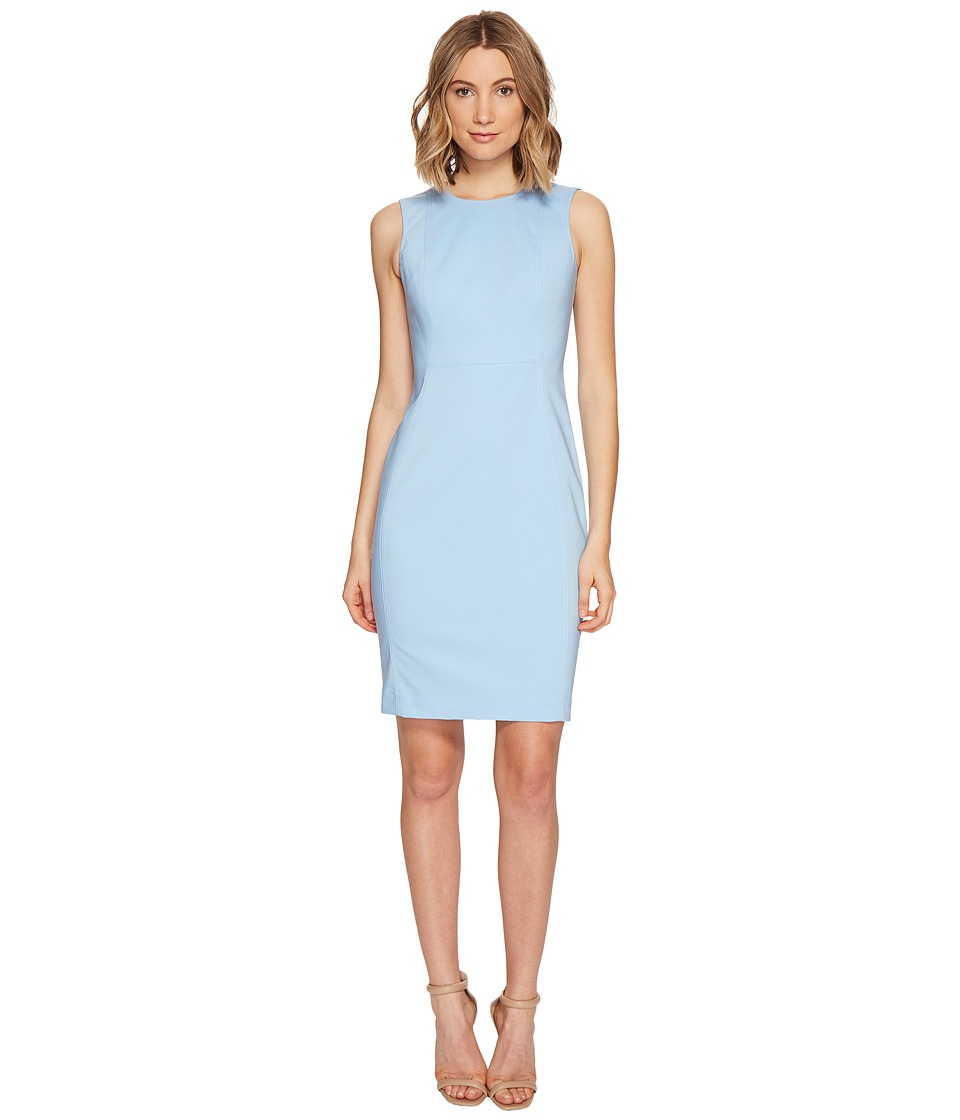 Calvin Klein - Cotton Princess Panel Sheath Dress (Serene) Womens Dress