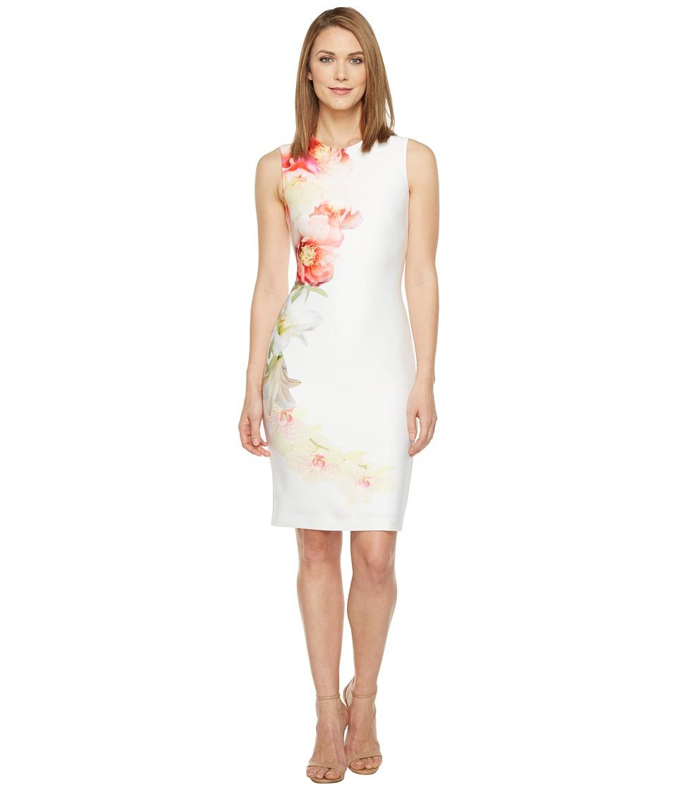 Calvin Klein Placed Floral Print Sheath Dress (Blossom Multi) Women