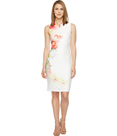 Calvin Klein - Placed Floral Print Sheath Dress