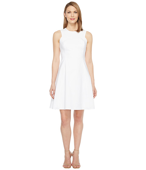 Calvin Klein Square Armhole Fit & Flare Dress