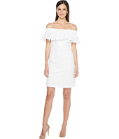 Calvin Klein - Off Shoulder Cotton Eyelet Dress