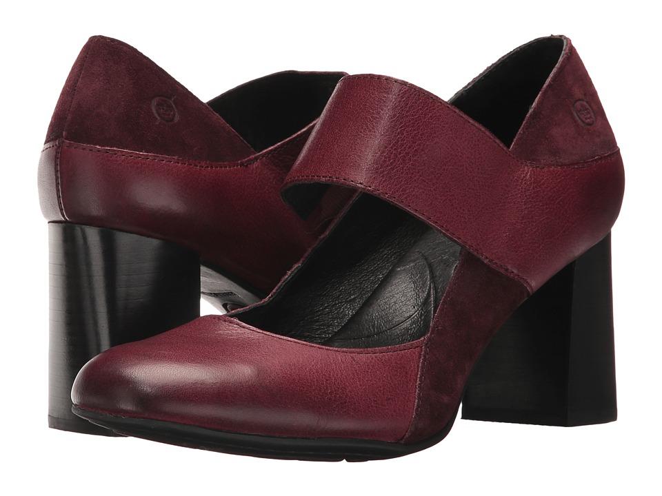 Born Motola (Burgundy/Burgundy Combo) High Heels