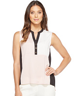 Ivanka Trump - Georgette Color Block Sleeveless with Buttons
