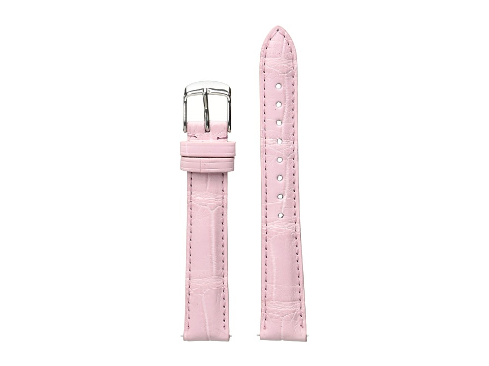 Michele - 16mm Alligator Strap Pink