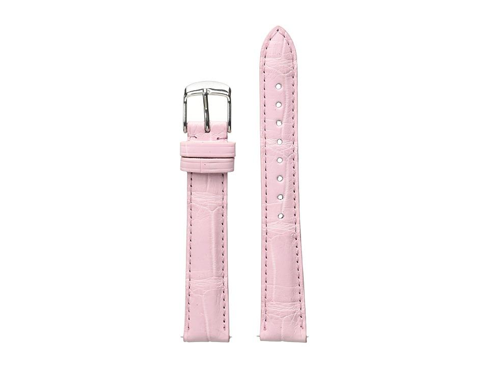 Michele - 16mm Alligator Strap Pink (Pink) Watches