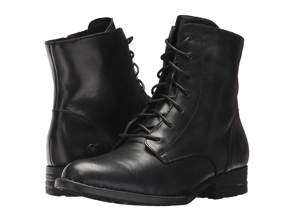 1950s Style Shoes Born - Clements Black Full Grain Womens Lace-up Boots $165.00 AT vintagedancer.com