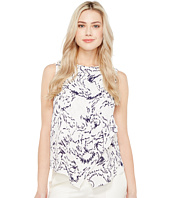 Ivanka Trump - Sleeveless Printed Georgette Blouse
