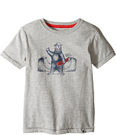Lucky Brand Kids - Skater Bear Short Sleeve Tee in Fleck Jersey (Toddler)