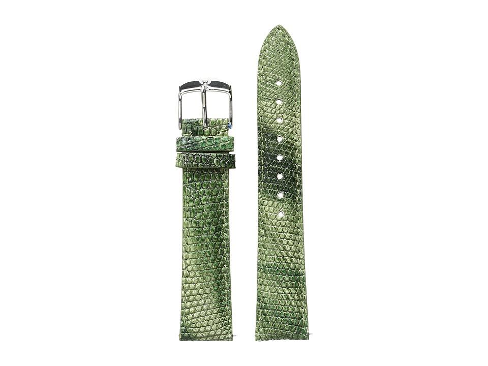 Michele - 18mm Spring Lizard Strap Green (Green) Watches