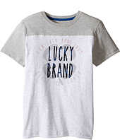 Lucky Brand Kids - Coastal Luck Short Sleeve Tee in Slub Heather Jersey (Big Kids)