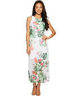 Vince Camuto Specialty Size - Petite Sleeveless Havana Tropical Maxi Dress w/ Slits