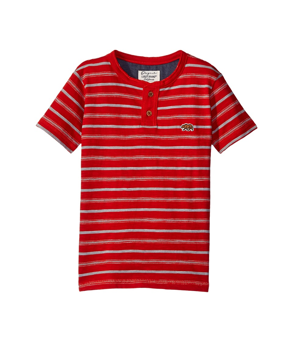 Lucky Brand Kids Offshore Short Sleeve Henley in Slub Jersey (Little Kids/Big Kids) (Poppy) Boy