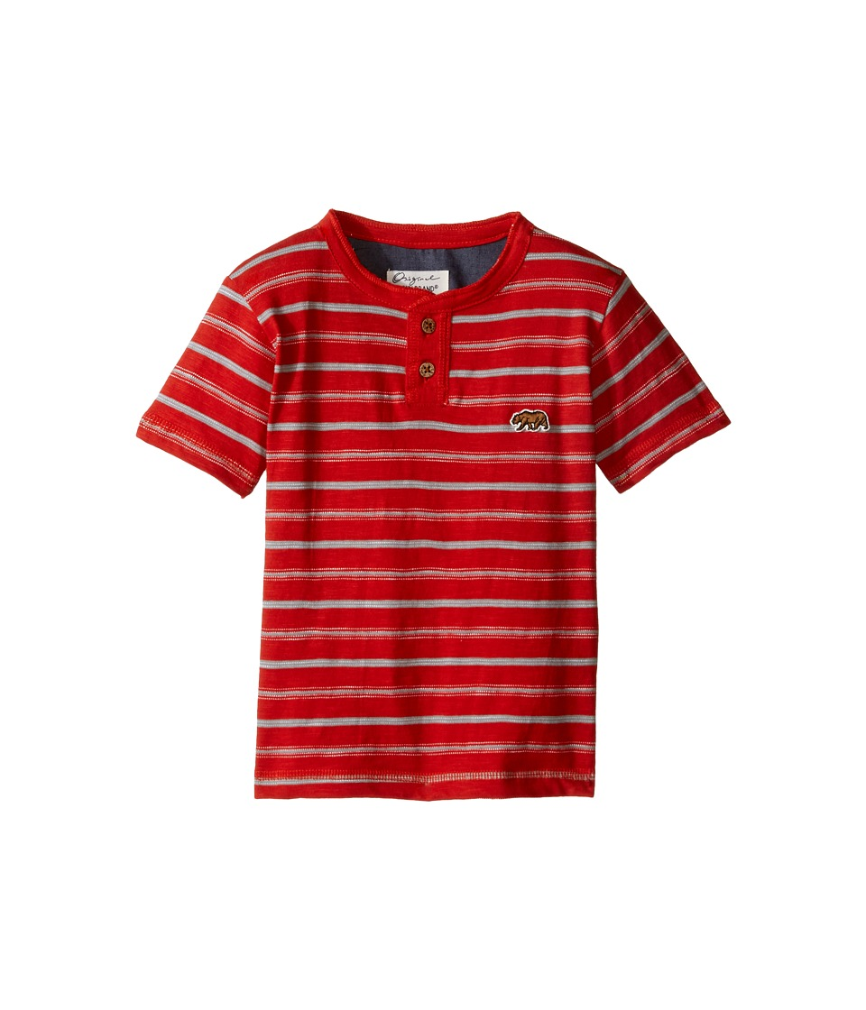 Lucky Brand Kids Offshore Short Sleeve Henley in Slub Jersey (Toddler) (Poppy) Boy