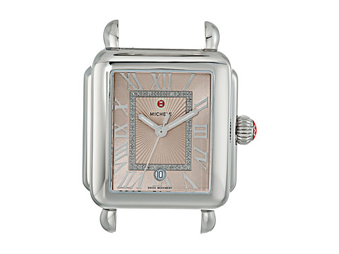 Michele 33mm x 35mm, Deco Madison Diamond Dial Beige - Beige