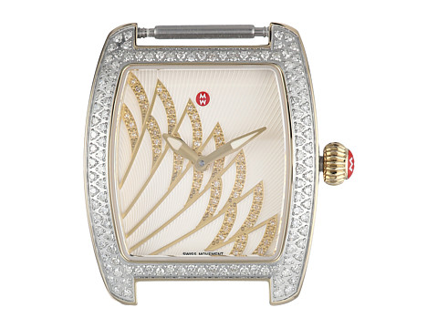 Michele 29mm x 30mm, Urban Mini Matinee Diamond Two-Tone,Diamond Dial Watch Gold/White - Gold/White