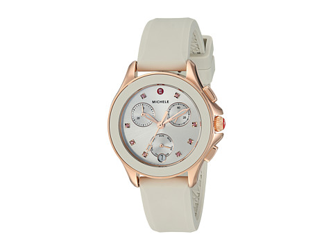 Michele 34.5mm, Cape Chrono Rose Gold/Taupe