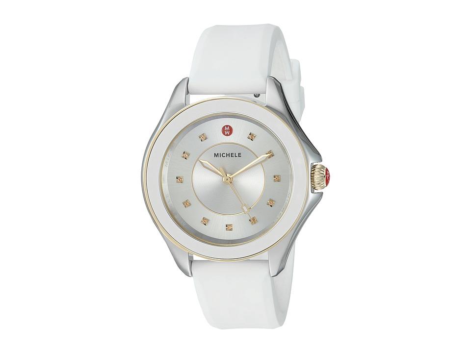 Michele - 40mm, Cape Topaz Two-Tone Gold/White (Gold/White) Watches