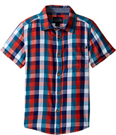 Lucky Brand Kids - Pier Short Sleeve Camp Shirt in Twill (Little Kids/Big Kids)