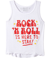 The Original Retro Brand Kids - Rock N Roll is Here to Stay Rayon Tank Top (Big Kids)