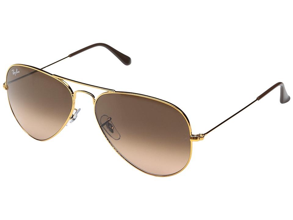 Ray-Ban RB3025 Original Aviator 58mm (Shiny Light Bronze/Pink Gradient Brown) Metal Frame Fashion Sunglasses