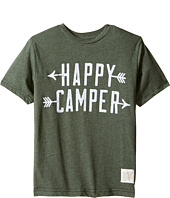 The Original Retro Brand Kids - Happy Camper Short Sleeve Heather Tee (Big Kids)