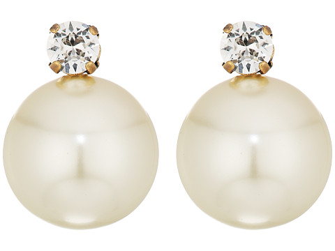 Tory Burch Pearl Drop Earrings - Ivory/Vintage Gold