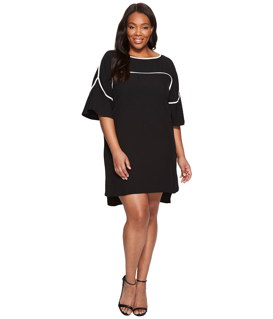 Calvin Klein Plus Calvin Klein Plus - Plus Size Flutter Sleeve Dress with Piping