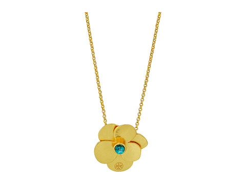 Tory Burch Flower Petal Delicate Necklace