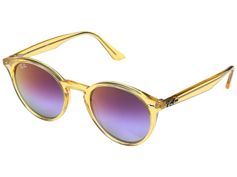 Ray-Ban RB2180 51mm - Shiny Yellow/Green Mirror Blue Gradient Violet