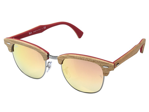 Ray-Ban Clubmaster 51mm - Cherry Tree Rubber Red/Gunmetal/Copper Flash Gradient