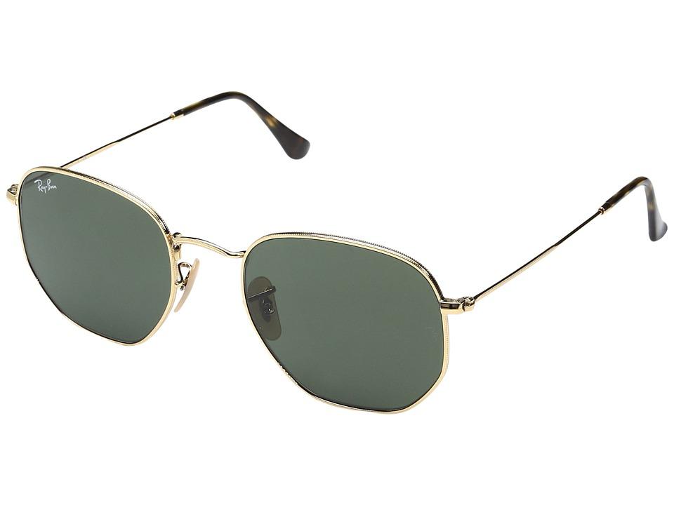 Ray-Ban 0RB3548N 54mm (Gold/Green) Fashion Sunglasses