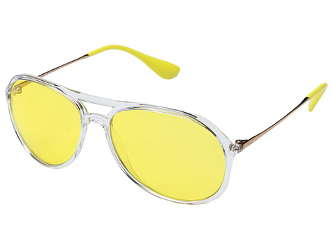Ray-Ban 0RB4201 59mm - Shiny Transparent/Yellow Mirror Red