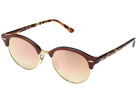 Ray-Ban RB4246 51mm - Top Brown on Transparent Grey/Shiny Gold/Copper Flash Gradient