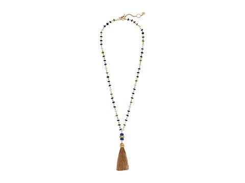 Tory Burch Beaded Tassel Necklace - Multi/Tory Gold