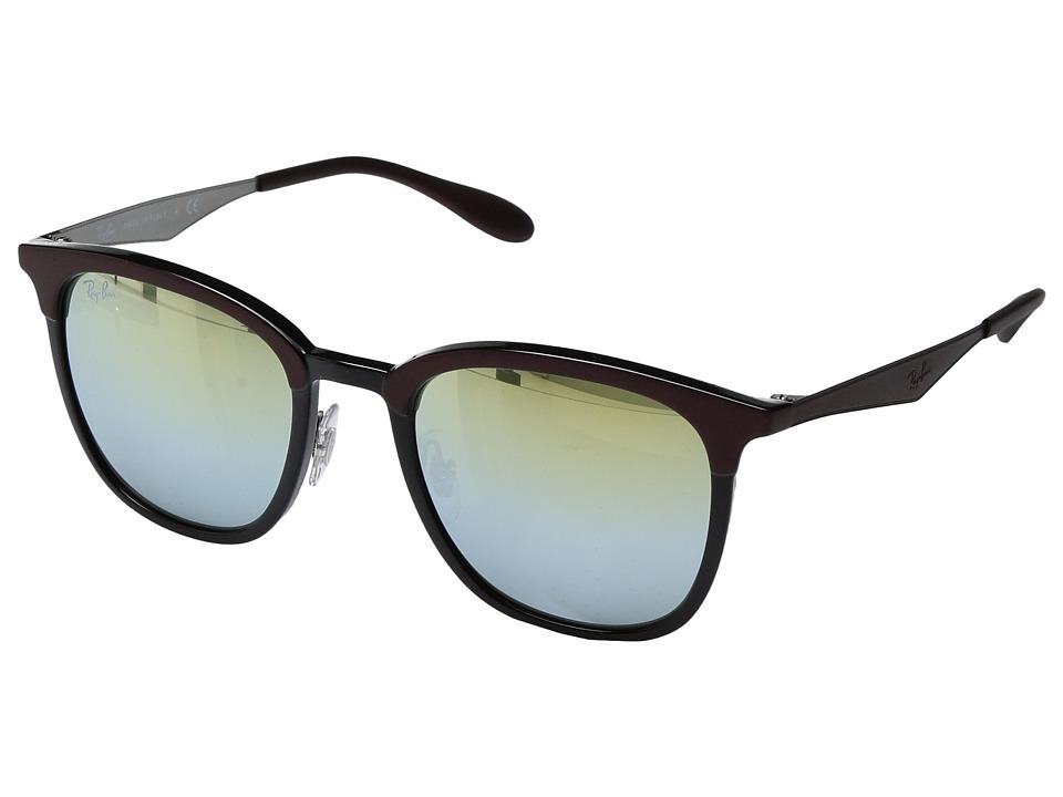 Ray-Ban 0RB4278 51mm (Brown/Shiny Black/Green Mirror Silver Gradient Gold Lens) Fashion Sunglasses