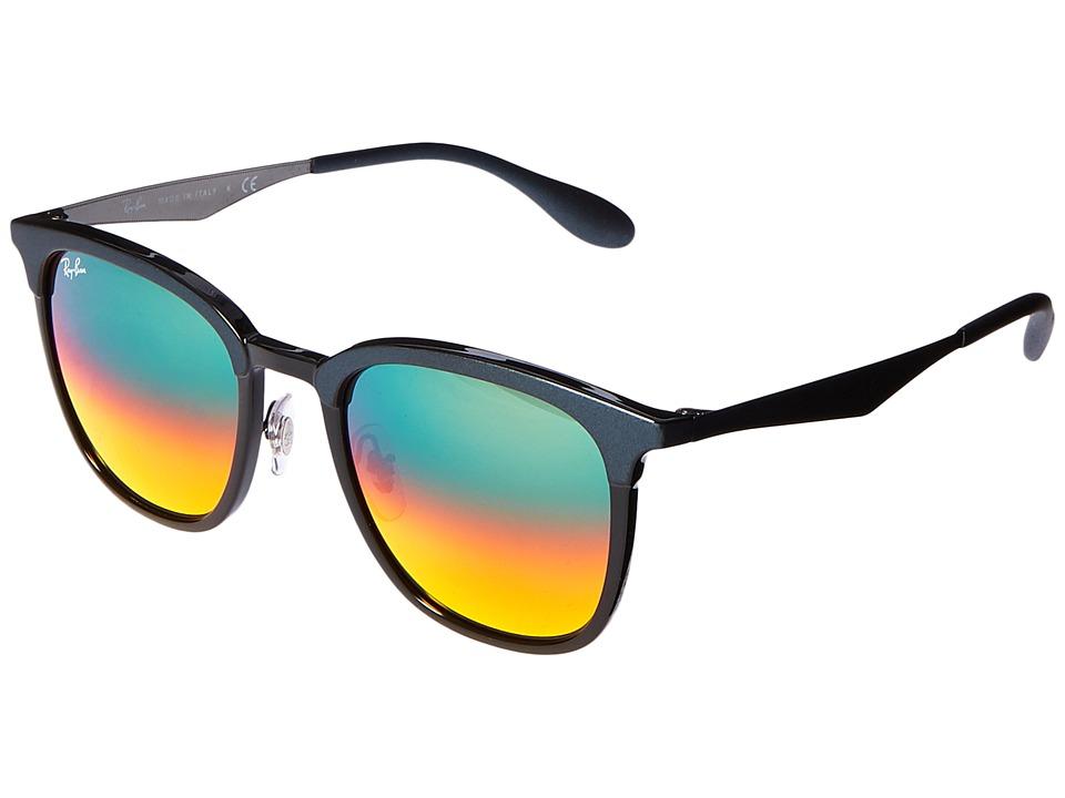 Ray-Ban 0RB4278 51mm (Top Black/Shiny Black Frame/Light Brown Mirror Red Gradient Lens) Fashion Sunglasses