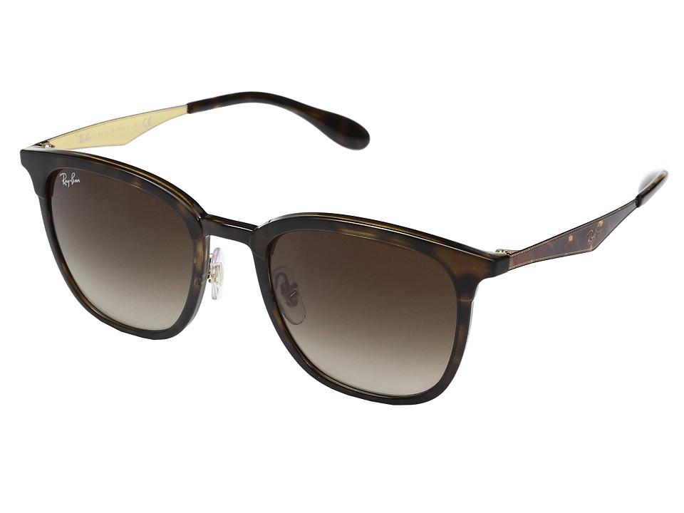 Ray-Ban 0RB4278 51mm (Top Havana/Shiny Havana Frame/Brown Gradient Lens) Fashion Sunglasses