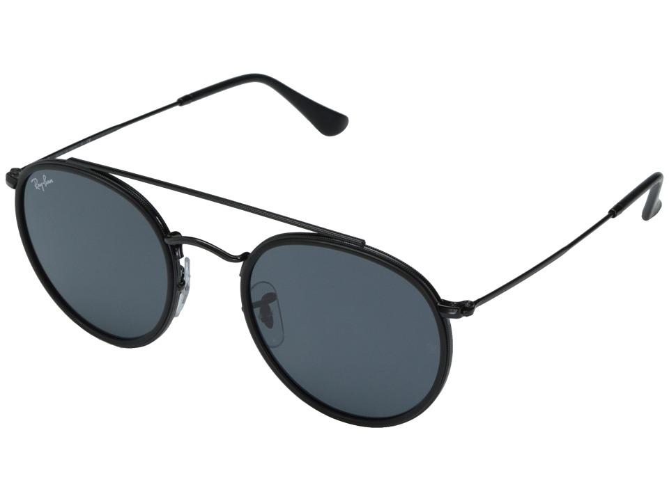 Ray-Ban 0RB3647N 51mm (Top Black on Shiny Black Frame/Grey Lens) Fashion Sunglasses