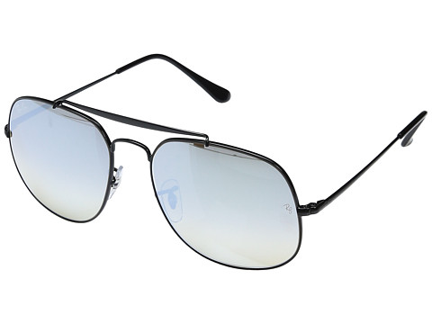 Ray-Ban 0RB3561 The General 57mm - Shiny Black Frame/Grey Flash Gradient Lens
