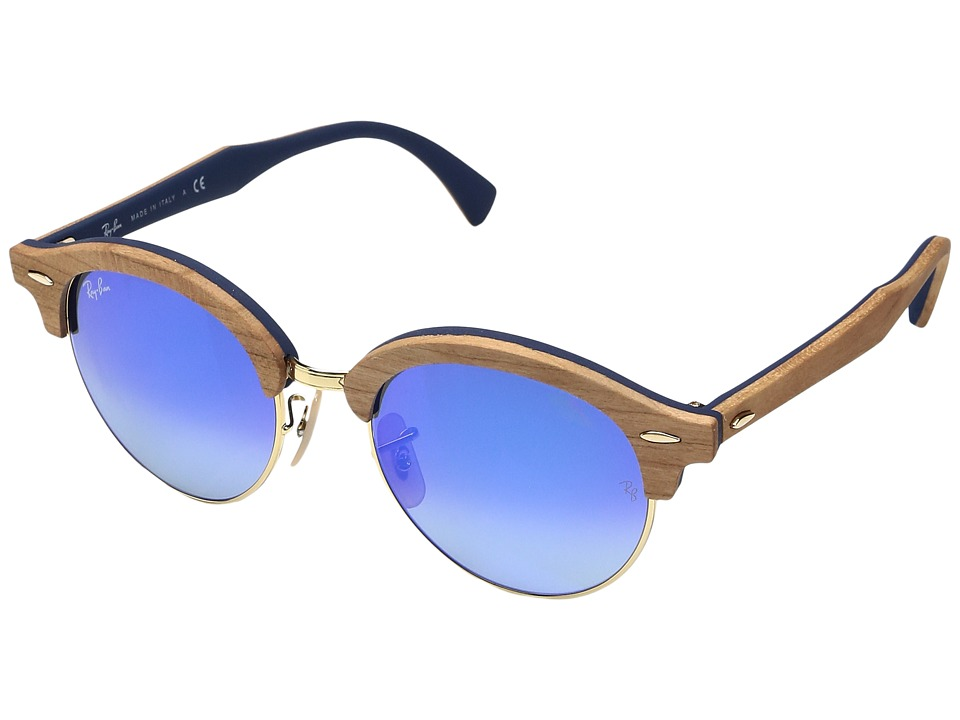 Ray-Ban 0RB4246M 51mm (Cherry Tree Rubber Blue/Gold Frame...